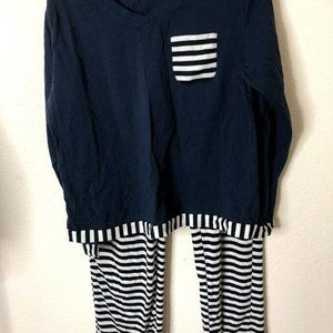 Womens Pajamas Pants Sets Sleepwear, Navy Stripe